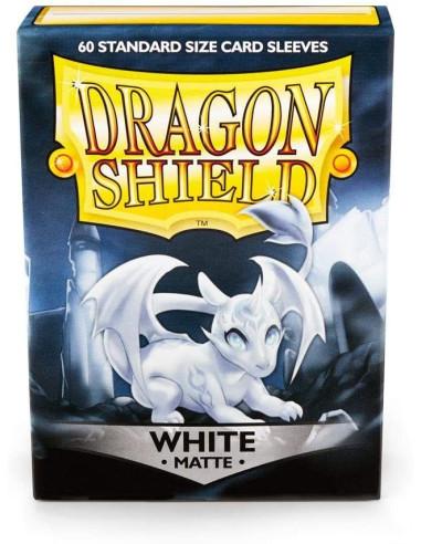 Protectores Dragon Shield Matte Blanco (60) - Sleeves en Magicsur Chile para Magic The Gathering