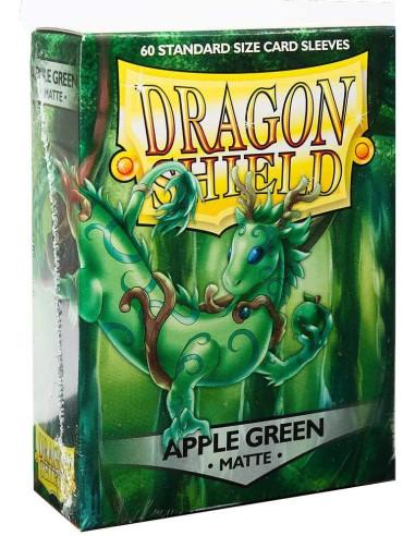Protectores Dragon Shield Matte Apple Green (60) - Sleeves en Magicsur Chile para Magic The Gathering