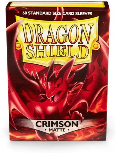 Protectores Dragon Shield Matte Carmesí (60) - Sleeves en Magicsur Chile para Magic The Gathering