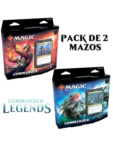 Mazos preconstruidos de Commander Legends en inglés en Magicsur Chile