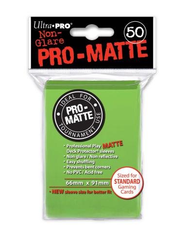 PRO-Matte Protectores Estándar Verde Claro (50)