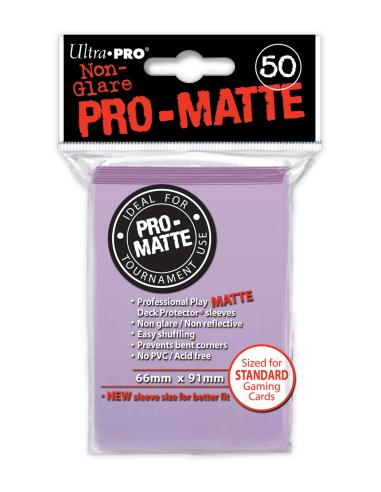 PRO-Matte Protectores Estándar Lila (50)