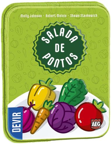 Imagen de la caja del juego de mesa Ensalada de Puntos
