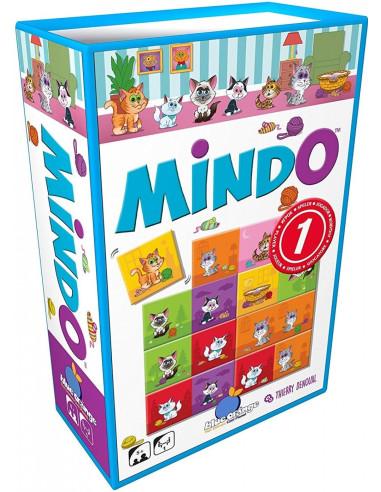 Imagen de la caja del juego de mesa Mindo Gatos