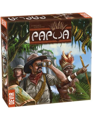 Imagen de la caja de el juego de mesa Papua