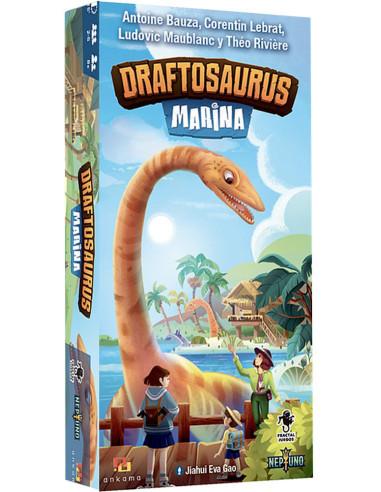 Imagen de la caja del juego de mesa Draftosaurus: Marina