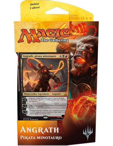 Planeswalker Deck Angrath, Minotaur Pirate - Rivales de Ixalan Mazo Magic the Gathering