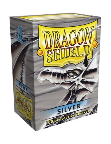 Protectores Dragon Shield Plateado (100)