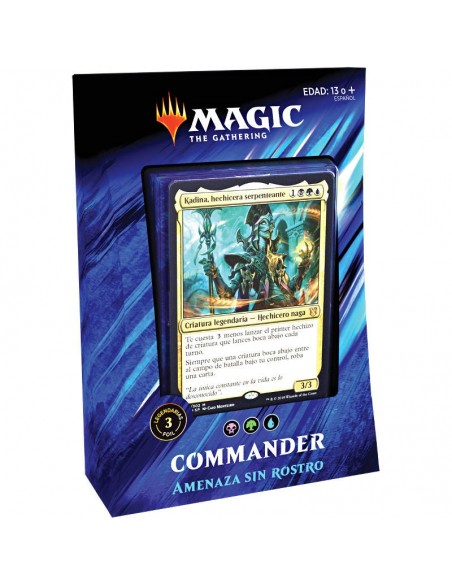 Mazo Commander 2019 Amenaza sin rostro - Azul
