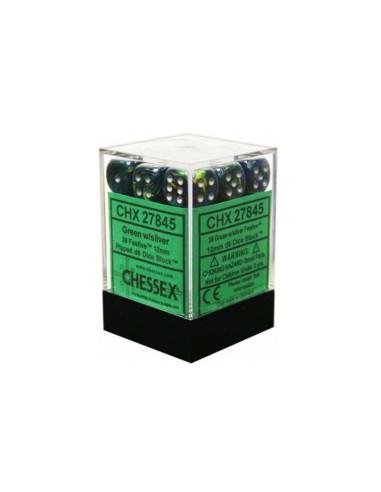 Dados Festive Green/silver Chessex -...