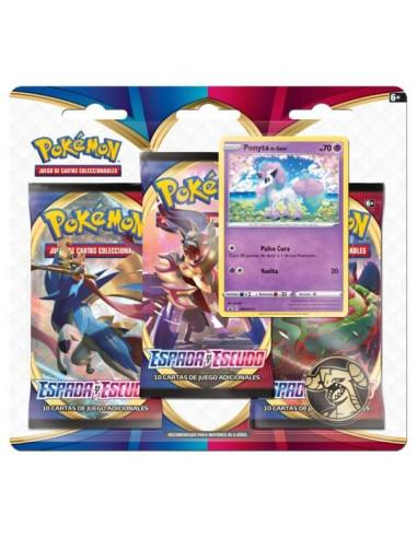 Pokémon TCG: Espada y Escudo 3 Booster Packs, Coin & Morpeko Promo Card