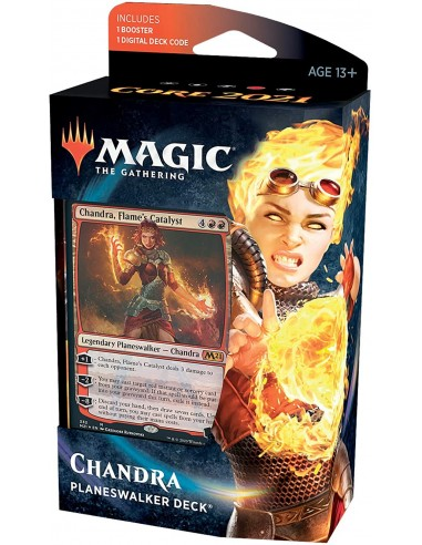 Magic: The Gathering Chandra, Flame's Catalyst Planeswalker Deck Magic Core Set 2021 M21 en Magicsur Chile