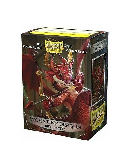 Protectores Dragon Shield: Art Matte - Valentine Dragon 2020 (100pzs) - Magicsur Chile