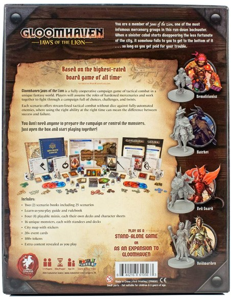 Gloomhaven: Jaws of the Lion - Caja - Magicsur Chile - Back