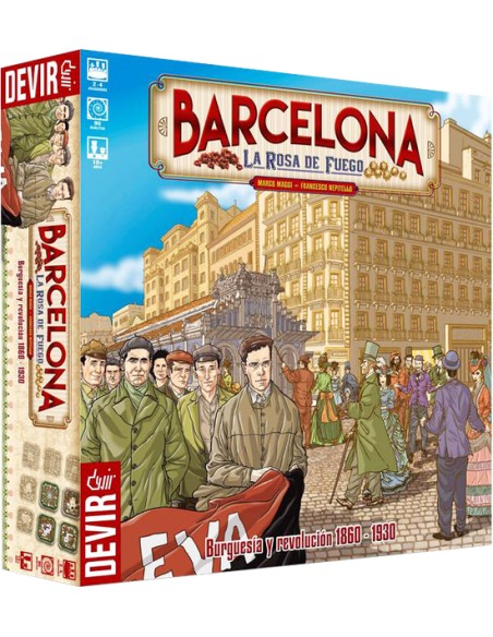 Barcelona: La Rosa de Fuego - Caja - Juego de Mesa