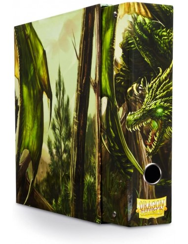 Carpeta Dragon Shield 3 Anillos Verde (Green) en Magicsur Chile