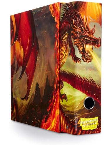 Carpeta Dragon Shield 3 Anillos Rojo (Red) en Magicsur Chile