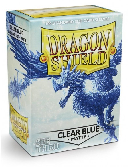 Protectores Dragon Shield: Matte - Clear Blue (100pzs) - Magicsur Chile