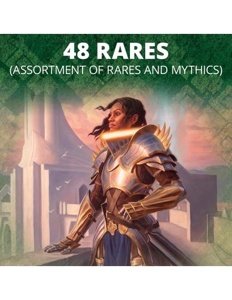 48 cartas raras o míticas por caja de collector booster de Zendikar Rising