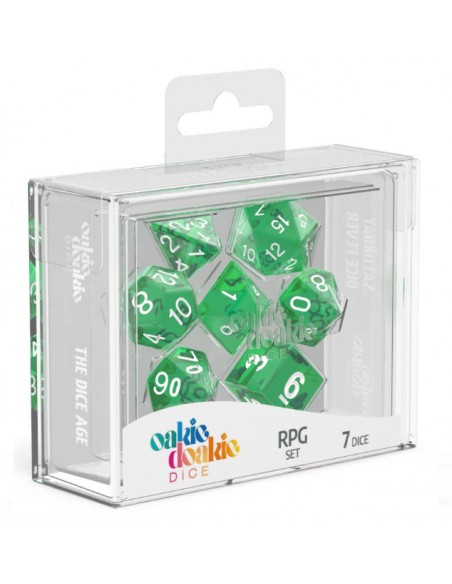 Translucent: Green and White RPG Set (7pzs)