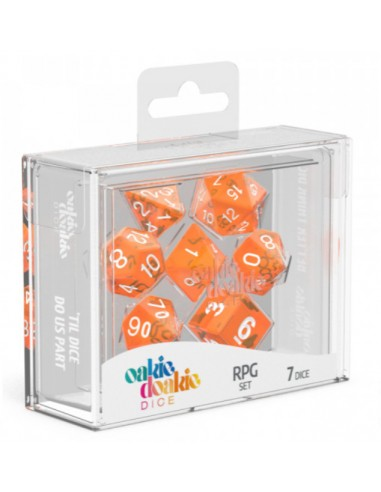 Translucent: Orange and White RPG Set (7pzs)