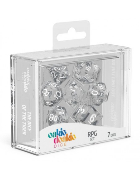 Translucent: Clear and White RPG Set (7pzs)