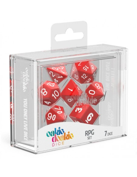 Solid: Red and White RPG Set (7pzs)