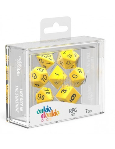 Solid: Yellow and White RPG Set (7pzs)