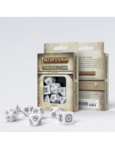 Dados Q WORKSHOP: Pathfinder Shattered Star Dice Set (7pzs) - Magicsur Chile