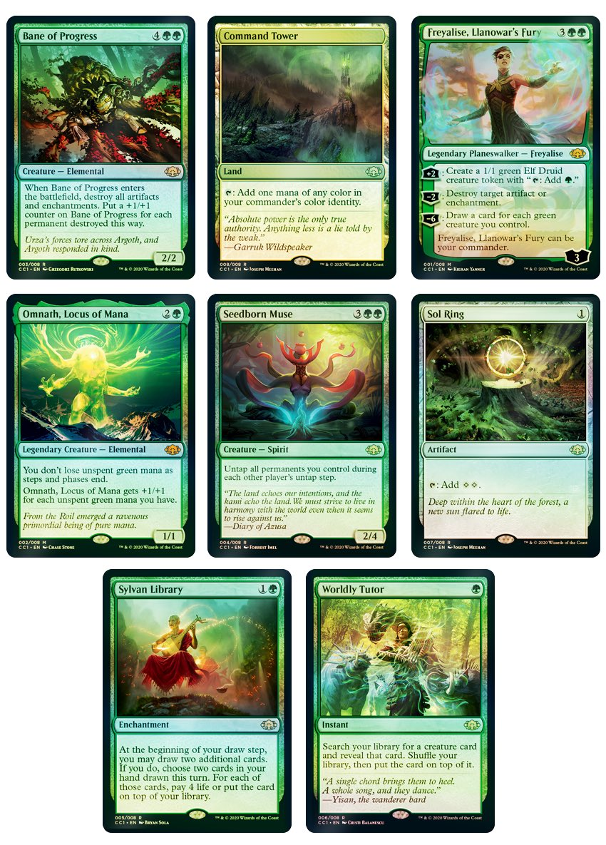 Commander Collection Green Foil